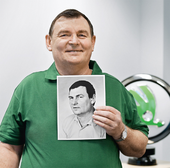 Auto mechanic VLADIMÍR CHMELÍK is 57 and has been with ŠKODA for 39 years. (photo)