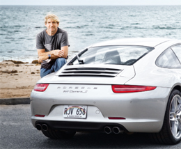 "LOVES THE SEA, WAVES AND CARS – Surfing legend Robby Naish: ""Porsche has a lot to do with passion."" (photo)"